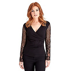 Joe Browns - Black wonderful lace wrap top