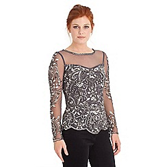 Joe Browns - Grey dashing beaded top