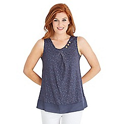 Joe Browns - Blue itsy ditsy vest top