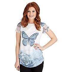 Joe Browns - Multi coloured sequin butterfly top