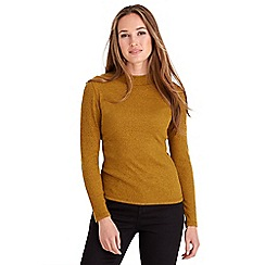 Joe Browns - Mustard turtleneck rib knit