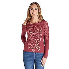 Joe Browns - Red mystical lace sleeve top