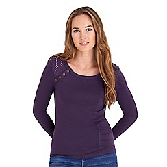 Joe Browns - Purple essential button top