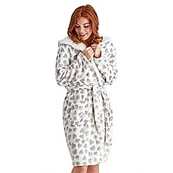 Joe Browns - Multi coloured cosy heart dressing gown