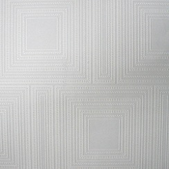 Kelly Hoppen - White Kelly Hoppen square panel wallpaper