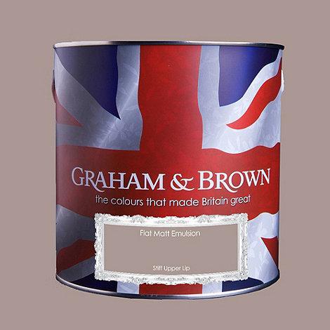 Graham & Brown - Matt finish Stiff upper lip paint
