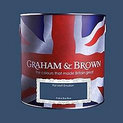 Graham & Brown - Matt finish Police box blue paint