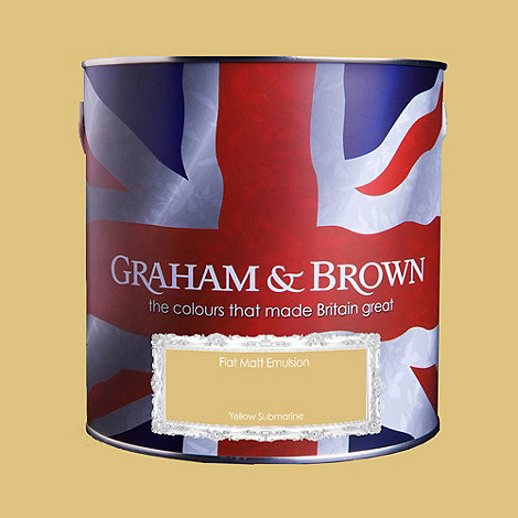 Graham & Brown - Matt finish Yellow submarine paint