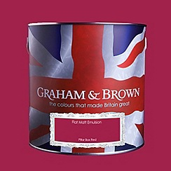 Graham & Brown - Matt finish Pillar box red paint