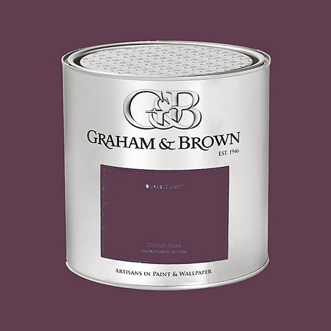 Graham & Brown - Damson Buddleia paint