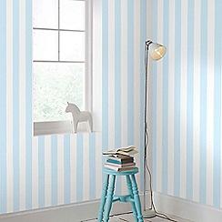 Graham & Brown Kids - Girls Boys Pastel Blue Stripe Wallpaper
