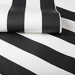 Graham & Brown Kids - Girls Boys Monochrome Black & White Stripe Wallpaper