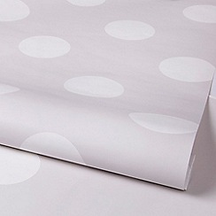 Graham & Brown Kids - Girls Boys Dotty Grey & White Dot Print Wallpaper