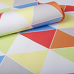 Graham & Brown Kids - Girls Boys Harlequin Multi Coloured Brights Print Wallpaper