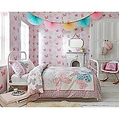 Graham & Brown Kids - Girls Kids Bedroom Nursery Pink & Purple Butterfly Print Wallpaper