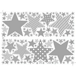 Graham & Brown Kids - Silver Star Wall Stickers