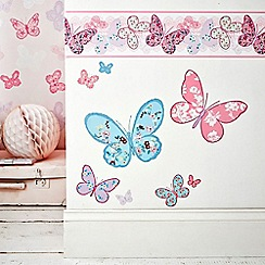Graham & Brown Kids - Pink Butterfly Wall Stickers