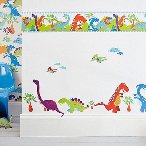 Graham & Brown Kids - Blue Dinoroar Kids Wall Stickers
