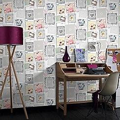 Superfresco - Easy Social Sunday Frame Print Multi Coloured Wallpaper