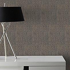 Graham & Brown - Matrix Black & Bronze Textured Plain Wallpaper