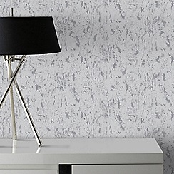 Graham & Brown - Milan Silver Natural Cork Texture Wallpaper
