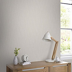 Graham & Brown - Vienna Cream & Silver Soft Vertical Stripe Wallpaper with Glitter Highlights