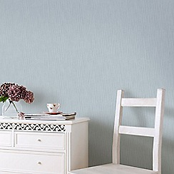 Graham & Brown - Vienna Blue & Silver Soft Vertical Stripe Wallpaper with Glitter Highlights