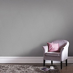 Graham & Brown - Mode Grey Geometric Shimmer Print Wallpaper