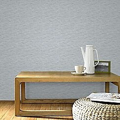 Graham & Brown - Breeze Grey & Silver Linear Subtle Textured Metallic Print Wallpaper