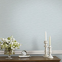 Graham & Brown - Breeze Blue & Grey Linear Subtle Textured Metallic Print Wallpaper