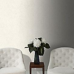 Graham & Brown - Tranquil Pebble Cream Plain Natural Effect Wallpaper