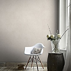 Graham & Brown - Tranquil Rose Gold Plain Natural Effect Wallpaper