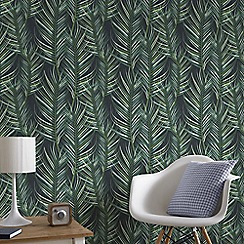 Superfresco Easy - Green Palm Leaf Paste the Wall Wallpaper