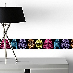 Graham & Brown - Neon Star Wars Character Head Wallpaper Border
