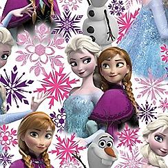 Disney - Pink Disney Frozen Anna Elsa & Olaf Shimmer Wallpaper