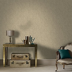 Graham & Brown - Beige and Gold Twist Wallpaper