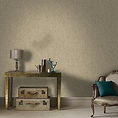 Graham & Brown - Beige and Gold Twist Wallpaper