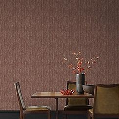 Graham & Brown - Burgundy Devore Wallpaper
