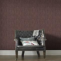 Graham & Brown - Burgundy and Copper Grasscloth Wallpaper