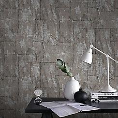 Graham & Brown - Bitter Chocolate Mineral Wallpaper