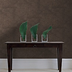 Graham & Brown - Chocolate and Copper Moonstone Wallpaper