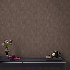 Graham & Brown - Vienna Bronze Stripe Wallpaper with Glitter Highlights