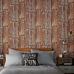 Superfresco Easy - Copper Rustic Metal Wallpaper