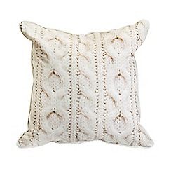 Graham & Brown - Cable Knit Printed Cushion
