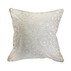 Graham & Brown - Printed Lace 2 Effect Cushion