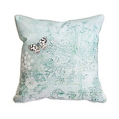 Graham & Brown - Green Printed Meadow Cushion