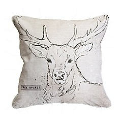 Graham & Brown - Printed Free Spirit Stag Cushion
