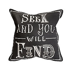Graham & Brown - Black Quote Cushion