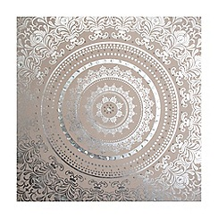 Graham & Brown - Cream Embellished Cocoon Fabric Wall Art
