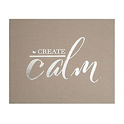 Graham & Brown - Create Calm Embellished Fabric Wall Art